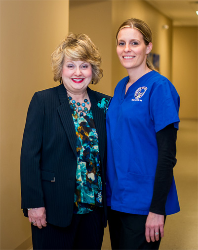 Marsha King with a Nursing Student